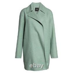 Nwt Theory Overlay Double Faced Wool Cashmere Coat Opal Green Sz Medium 895 $ Nouveau