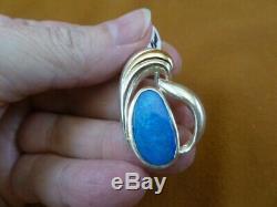 O-172 Bleu Vert Opal Pierre En Argent Massif Bijoux Pendentif Opales Yowah Au