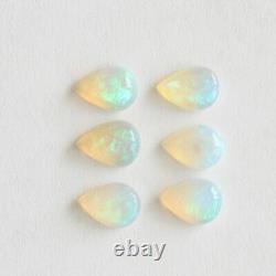 Opal Australien 7x5mm 2.45ct Forme Poire Ensemble De 6 Pierres Naturelles Solides En Vrac