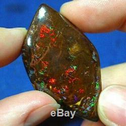 Opale Boulder À Matrice Solide Australienne Naturelle Rouge Et Verte, 87 Cts Voir La Vidéo