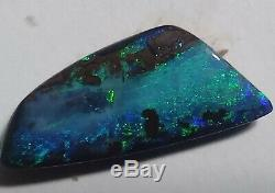 Opale Boulder Massif XXL 21ct Bleu Et Vert, Forme Libre, Queensland