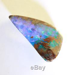 Opale Boulder Unie Bleue Et Verte