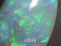 Opale D'australie, Pierre Taillée Massive, Pierre Foncée, Lambina, Base Foncée, Très Gros Grain 52x28mm (1529)