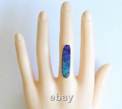 Opale De Boulder 11.72ct 32 X 8mm Opale Australienne Pierre Naturelle Unset Stone Winton