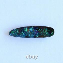 Opale De Boulder 4.50ct 22.6 X 5.9mm Pierre Lâche Naturelle D'opale Australienne
