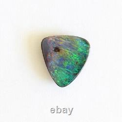 Opale De Boulder 4.56ct 11 X 10.7mm Opale Australienne Pierre Solide Naturelle Winton