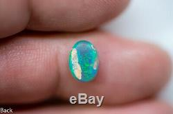 Opale De Cristal Noire, Pierre Solide Australienne Bab090719 De Lightning Ridge 1,25 Carat Solide