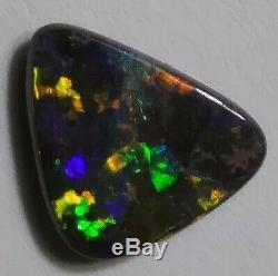 Opale Exceptionnelle De 3.2ct. Opale Boulder Massif Orange Vert & Vert Queensland