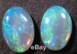 Paire De Pierres De Taille Opale Cristal Opale Australienne Cristal Menthe Naturel 6x4mm (751)