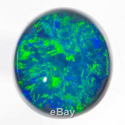 Parfait Aqua Green Blue 1.78ct 8x7mm Solide Semi-noir Opal Lightning Ridge