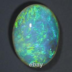 Parfait Aqua Green Multicolore 3.23ct 12x9mm Solid Crystal Opal Lightning Ridge