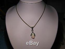 Pendentif D'opale Australienne Naturelle De 1,4 Carat En Argent Sterling