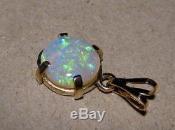Pendentif En Opale Australienne Naturelle En Or Jaune 14 Carats