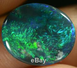 Pierre Noire Australienne Naturelle Opale Noire Naturelle Solide De 2,35 Ct, Joyau