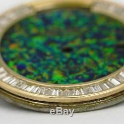 Pré Occasion Rolex Usine Dial Refinish Avec Opal Et Diamants Qs Day-date Baguette