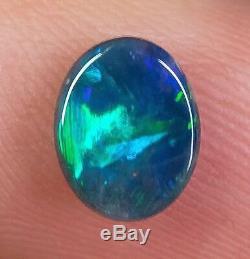 Rare Lâche Opale Noire Bijou Lightning Ridge Solide 1,13ct Opale Australienne Ba171018