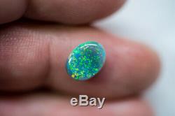 Rare Lâche Opale Noire Bijou Lightning Ridge Solide 1.84ct Opale Australienne Baa090719