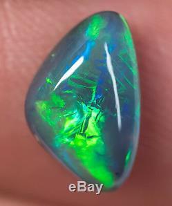 Rare Lâche Opale Noire Bijou Lightning Ridge Solide 2.24ct Opale Australienne Bc171018