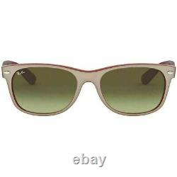 Ray-ban Mens New Wayfarer Color MIX Matte Beige On Opal Red Sunglasses Brown Gr