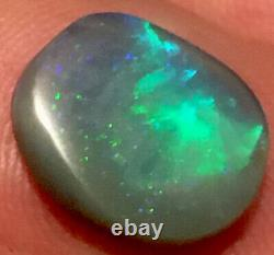 Ridge Lightning 4.55 Carats Noir Opale Solide. Beautiful