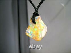 Solid Australien Boulder Opal Pendentif 6.55ct Vert Bleu Or Gem Naturel Boho