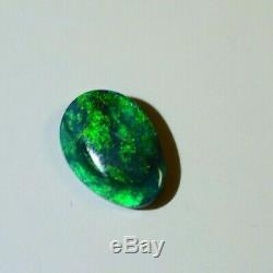 Solide 6.90 Queensland Australian Black Opal 12,13 X 6,76 X 3,5 MM