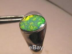 Solide Australian Gem Opal Bague En Argent Sterling Taille 9 1/2