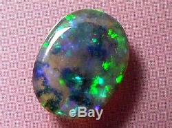 Sparking Lumineux Joli Motif Couleur Cristal Noir Plein Natural Opal 1,66 Ctw