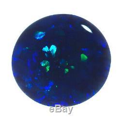 Splendide Gem Qualité Bleu-vert 9x8mm 1.01ct Solid Black Opal Lightning Ridge