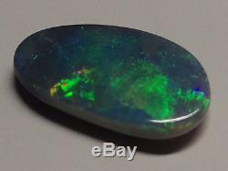 Superbe 4.15ct Opale Noire Opale Bleu Royal Vert Vidéo Gem Haut Grade