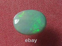 Superbe Rouleau Brillant Motif De Couleur Nice Naturel Massif Noir Opal 1.18 Carat