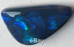 Taille Pendentif! 16ct Solid Black Opal Blue & Green Freeform De Lightning Ridge