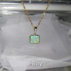 Top Qualité Australien Solide Pendentif Opale Cadeau Bijoux Bijoux 3.8ct 14k Or # 047