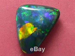 Top Qualité Exceptionnelle Brillant Couleur Du Motif Rare Solid Black Opal 2,19 Ctw