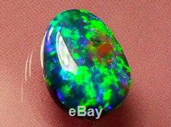 Top Qualité Exceptionnelle De Nice Lumineux Motif Couleur Rare Noir Solide Opale 3carat