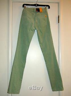 Tory Burch Ivy Super Skinny Corduroy Vert Du Pérou Opal 25 27 195 $ Tn-o 4713223