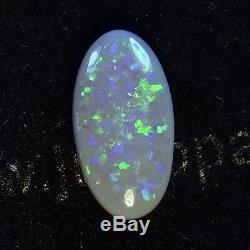 Twinkling Greens Vrai Solide Australian Lightning Ridge Semi-noir Opal 12609