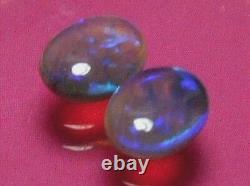 Une Paire De Rolling Beautiful Colour Pattern Natural Solid Crystal Opal 1.44 Carat