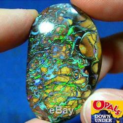 Veilleuses Électriques Remplies De Couleur 89ct Naturel Australien Massif Yowah Boulder Opal