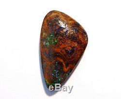 Véritable Australian Boulder Opal Cut Solide Stone Blues Et Les Verts (2375)