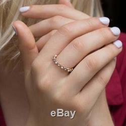 Véritable Blanc Opale Bague À Pierre Précieuse Solide 14k Bijoux En Or Jaune Fine Main Nouveau
