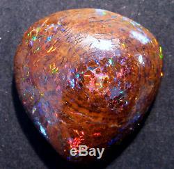 Véritable Boulder Australien Cut Solide Opale En Vrac Verts Bright Stone Reds (2052)