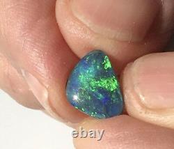 Véritable Solide Crête De Foudre Balck Opale 2.90carats, Opale Australienne