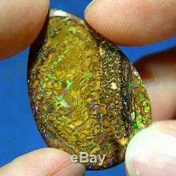 Vert Et Violet Scintillants Opale Boulder Yowah Opale Australienne Naturelle 24 Carats