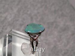 Vert Fixe Australian Black Opal Bague En Argent Sterling Taille 8 1/4