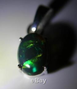 Vert Opale 1.40ct Platinum Fini Argent Massif 925 Sterling Naturel Nouveau