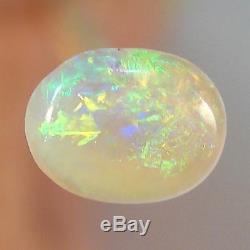 Vert / Orange Brillant Opale De Cristal Noir Australien Massif 3999