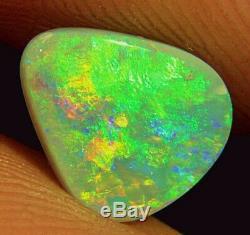 Vert-orange Massif Naturel Lightning Ridge Semi Black Opal 1,6 Karat Video