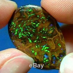 Verts Électriques Opale Naturelle Australienne Solide De 10 Ct Yowah Boulder Voir La Vidéo