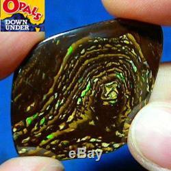 Vidéo D'opale Boulder De Noix De Yowah Australien Naturel Vert Et Violet De 49 Ct